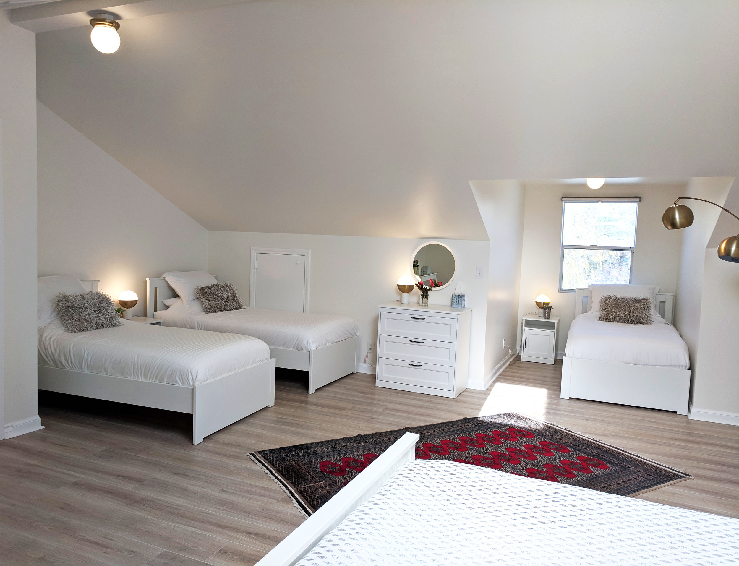 Shared bedroom with single beds