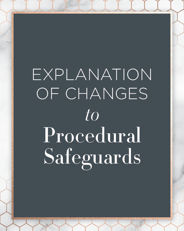 Explanation of changes to Procedural Safeguards Kids First Collaborative Special Education Advocate IEP Consultant Chicago Illinois Line