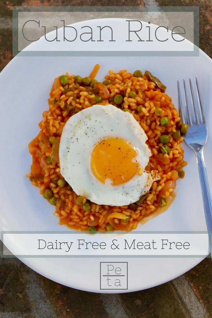 Cuban Rice Recipe - Dairy Free & Meat Free.