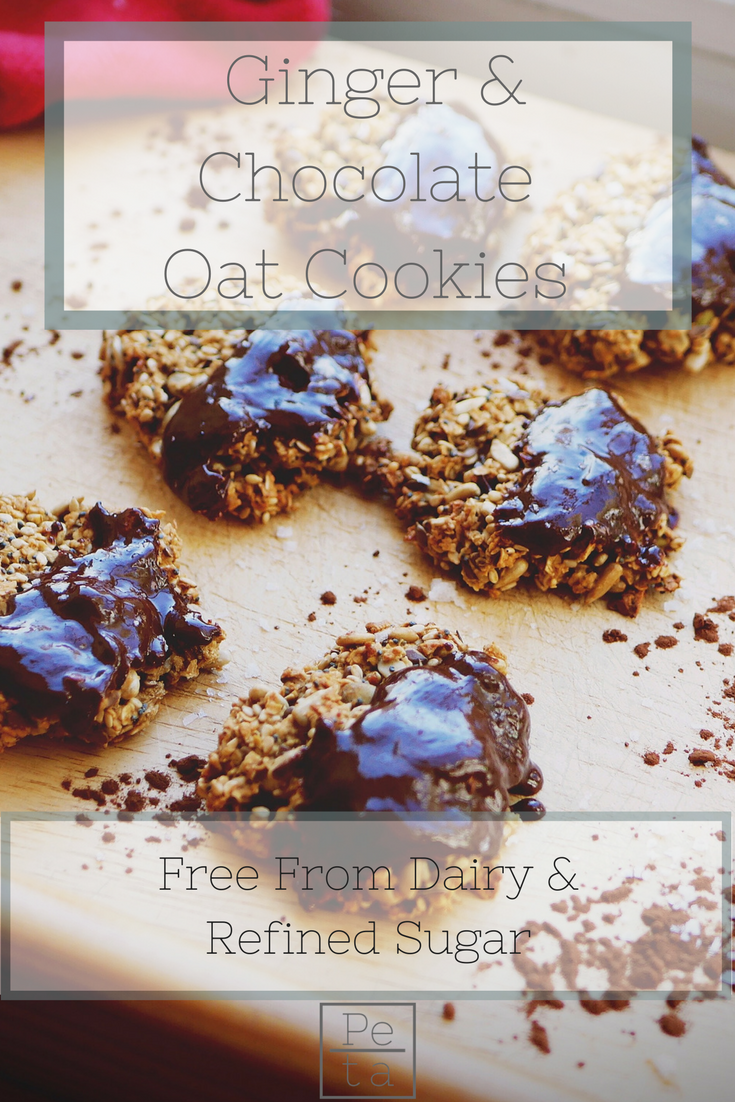 Simple Ginger & Oat Cookies - Dairy Free & Refined Sugar Free Recipe