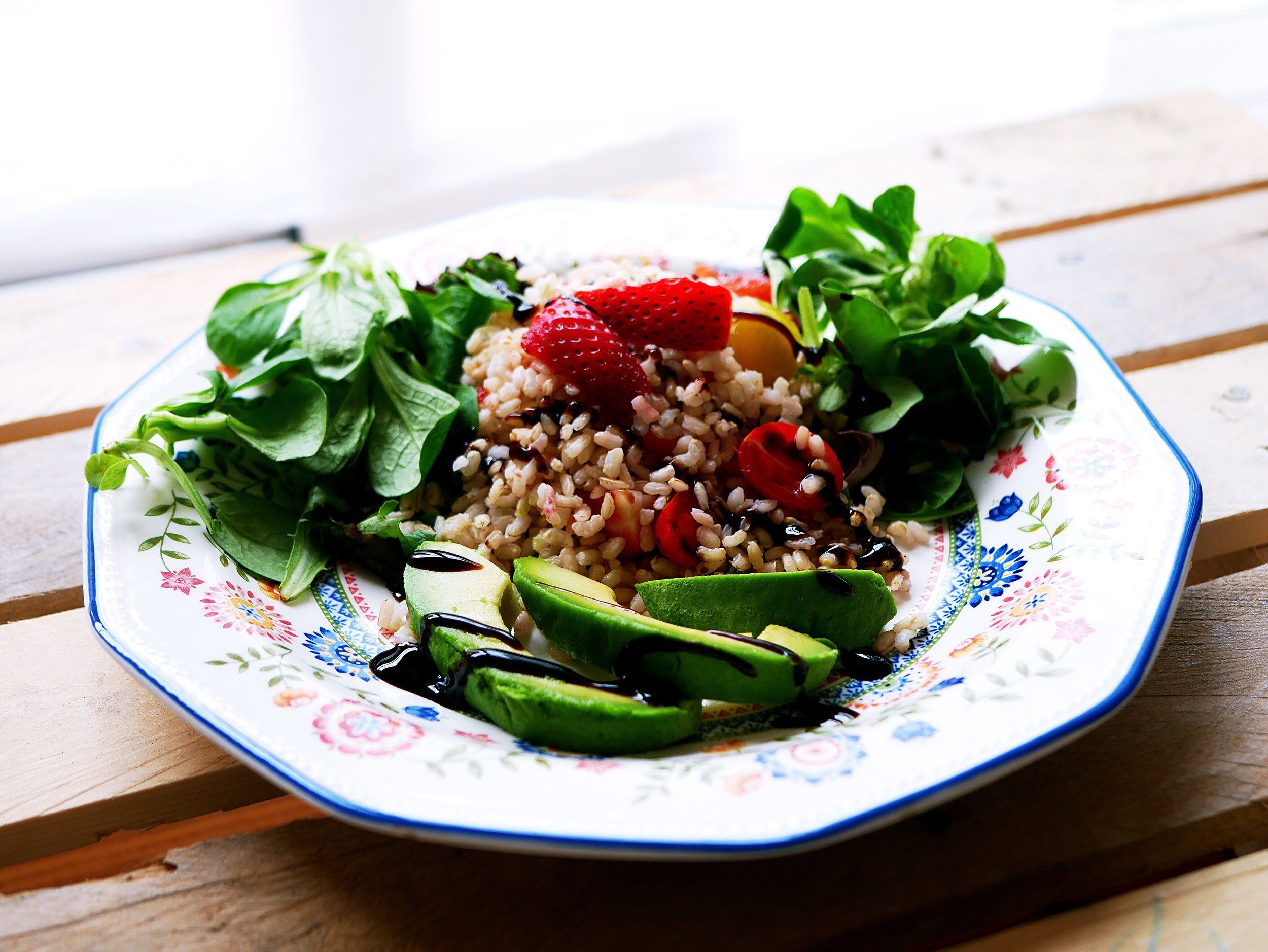 strawberry rice salad