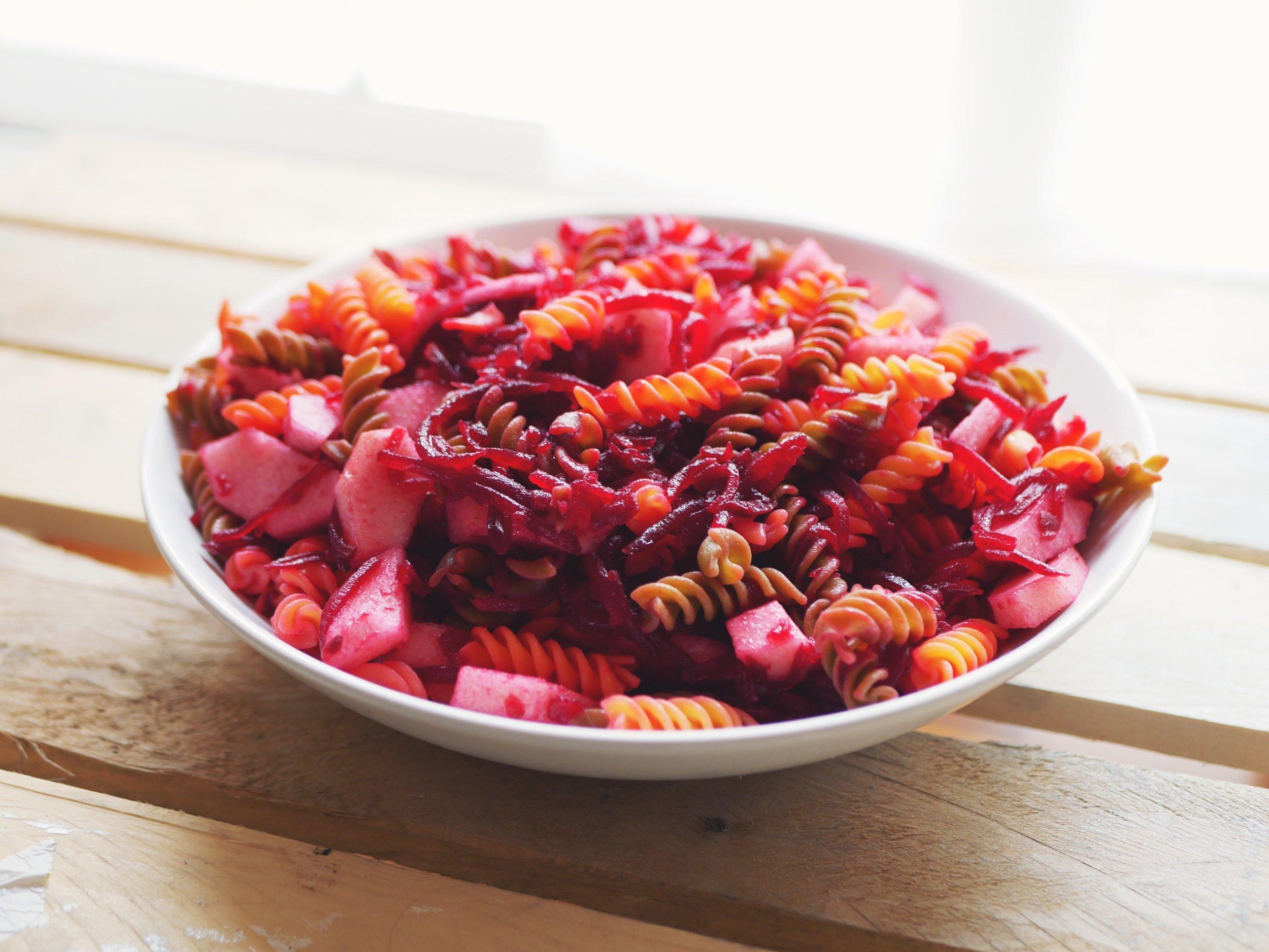 pink pasta salad