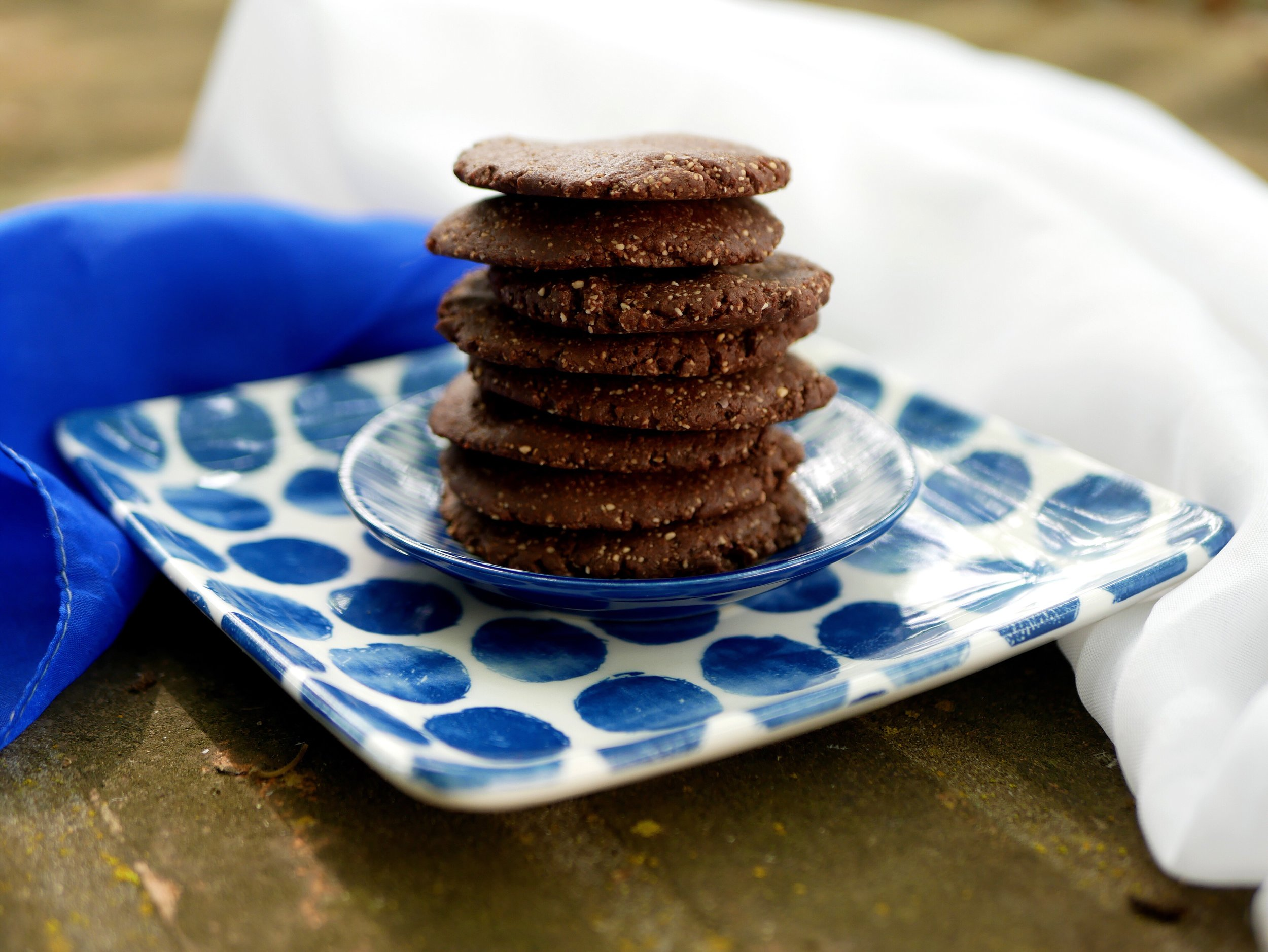 refined sugar free biscuits on a plate