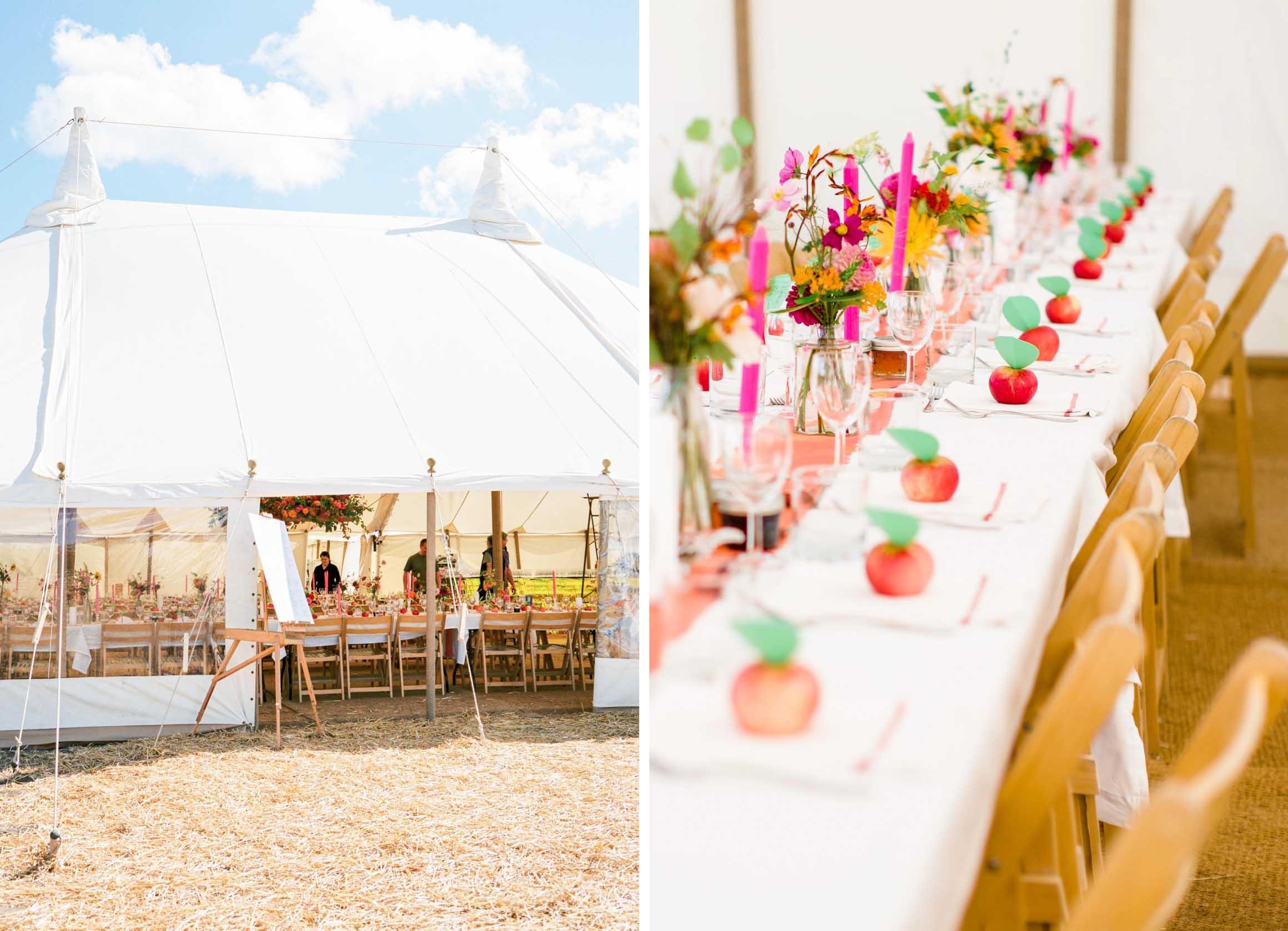 Amy O'Boyle Photography, Destination & UK Fine Art Film Wedding Photographer, DIY Carnival Farm Wedding with May Pole 2.jpg
