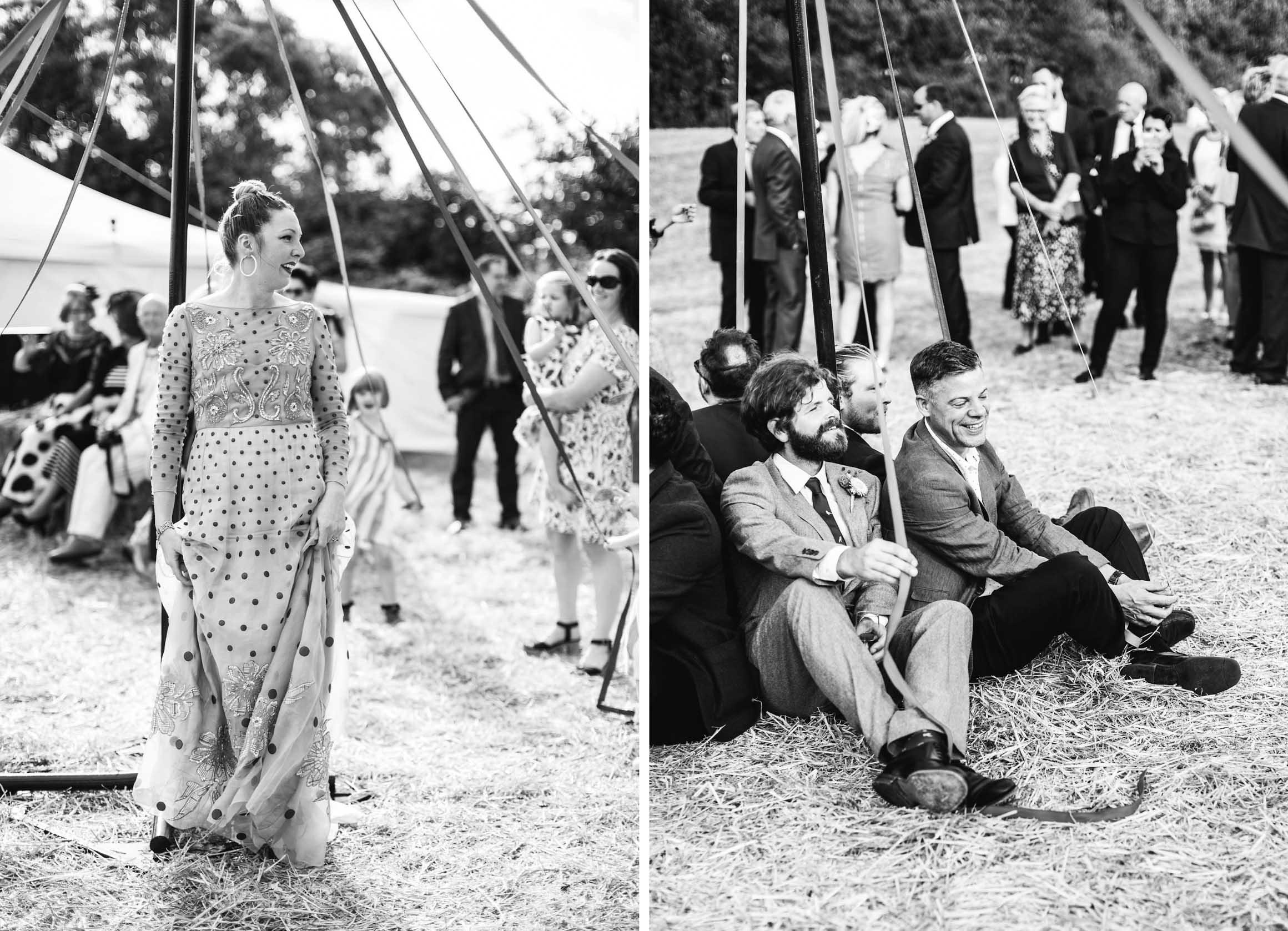 Amy O'Boyle Photography, Destination & UK Fine Art Film Wedding Photographer, DIY Carnival Farm Wedding with May Pole.jpg