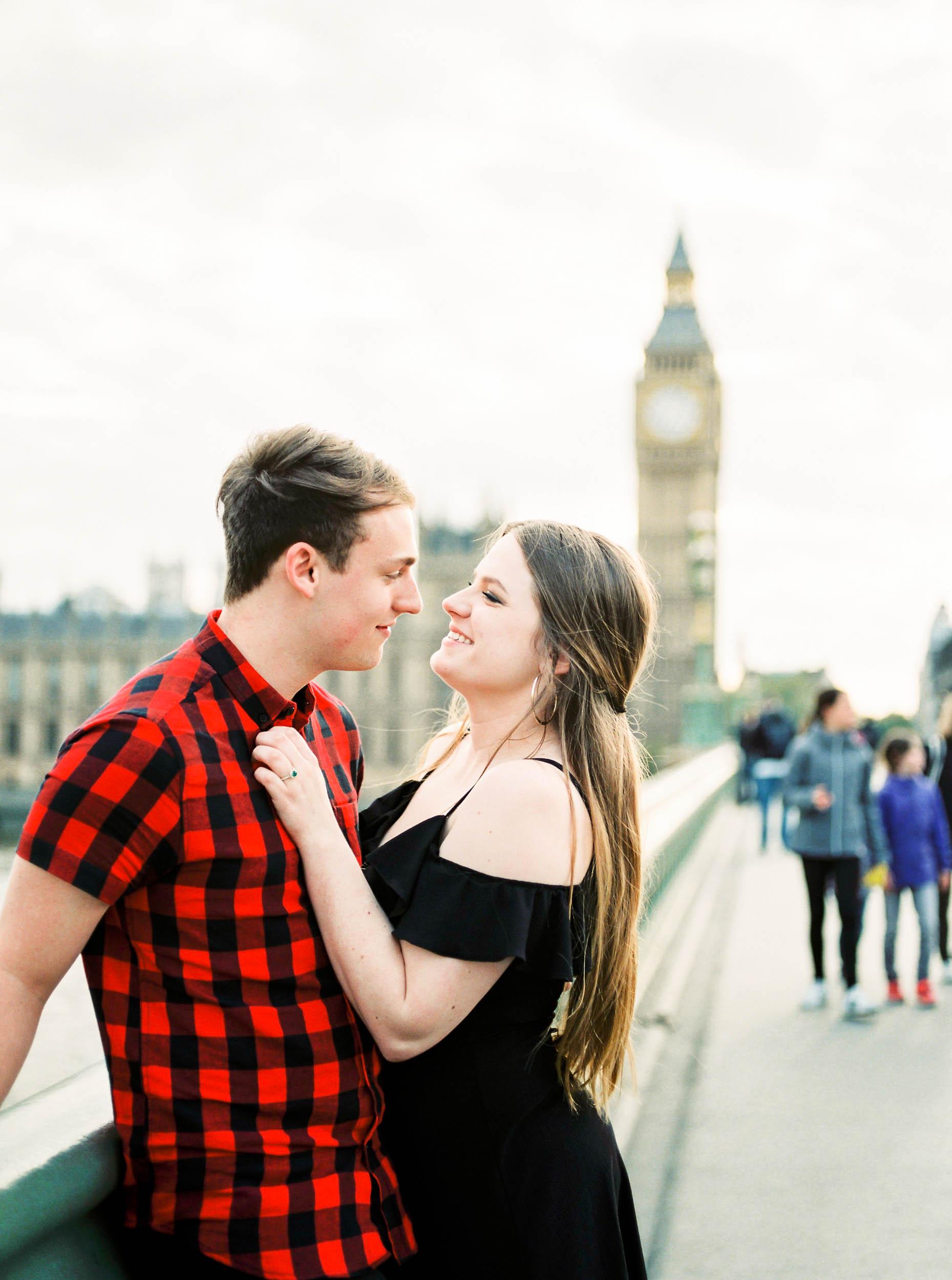 Amy O'Boyle Photography- Destination & UK Fine Art Film Wedding Photographer- London Proposal- Westminster Bridge Big Ben Engagement Shoot-4.jpg