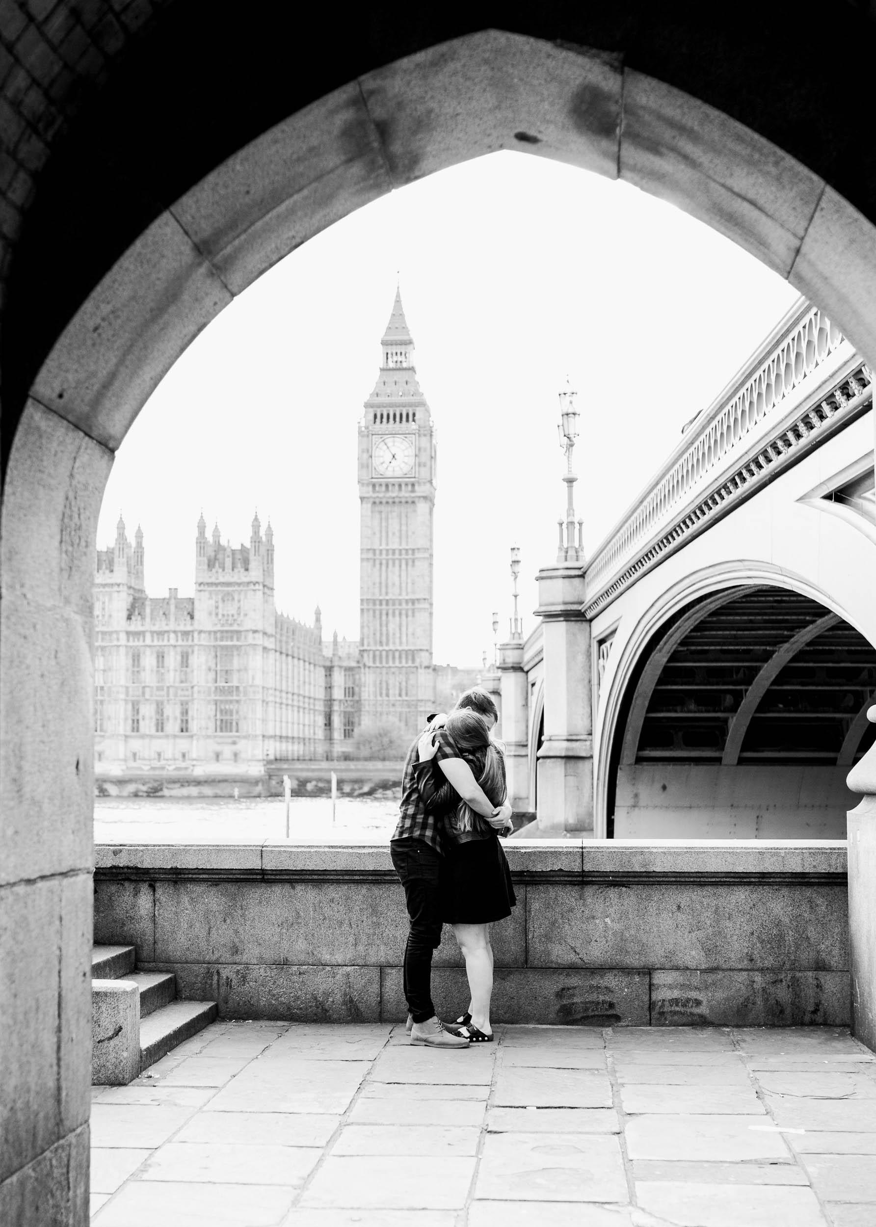 Amy O'Boyle Photography- Destination & UK Fine Art Film Wedding Photographer- London Proposal- Westminster Bridge Big Ben Engagement Shoot-14.jpg