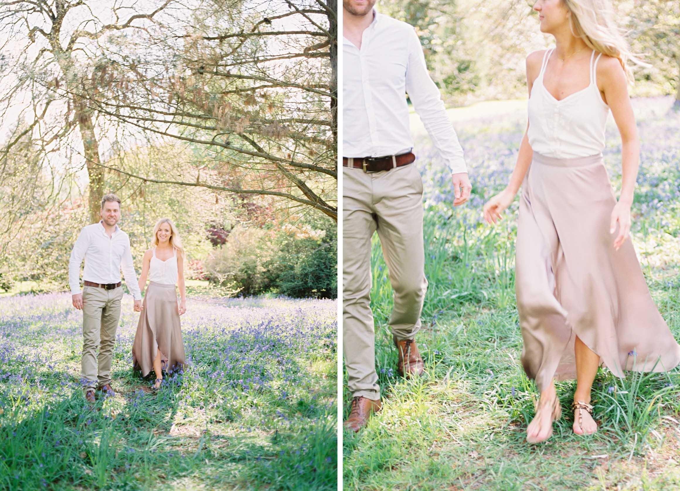 Amy O'Boyle Photography- Destination & UK Fine Art Film Wedding Photographer- Sheffield Park Garden National Trust Spring Engagement Shoot 4.jpg