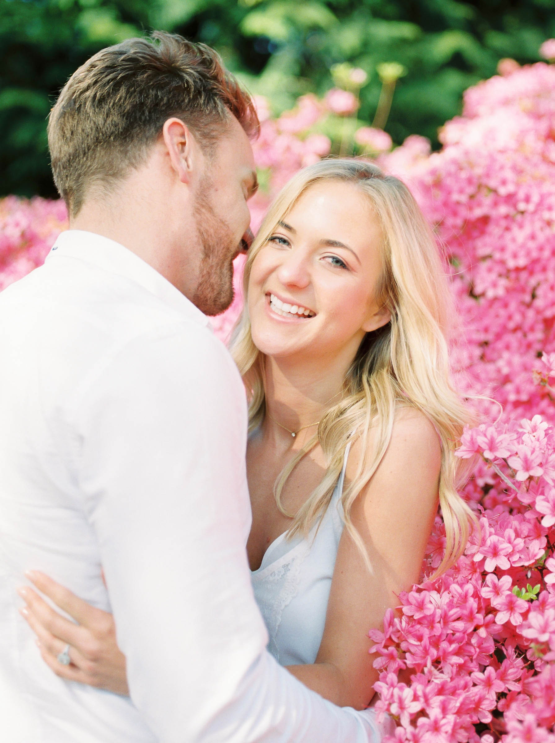 Amy O'Boyle Photography- Destination & UK Fine Art Film Wedding Photographer- Sheffield Park Garden National Trust Spring Engagement Shoot-21.jpg