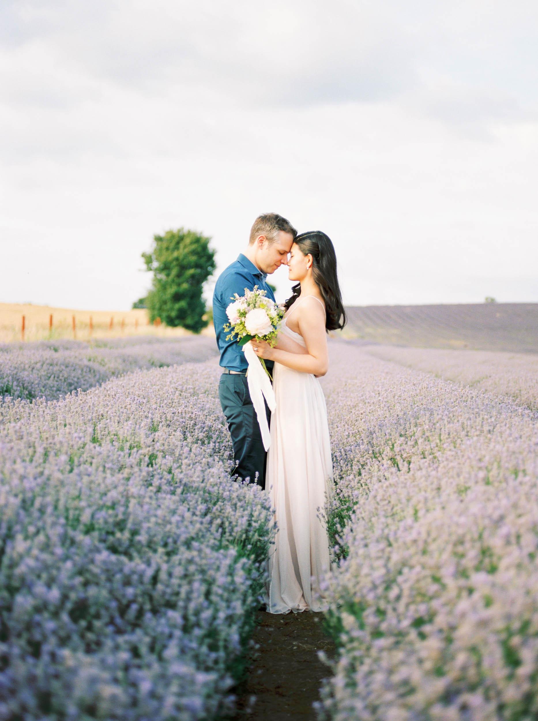 Amy O'Boyle Photography- Destination & UK Fine Art Film Wedding Photographer- Hitchin Lavender Engagement Shoot-3.jpg