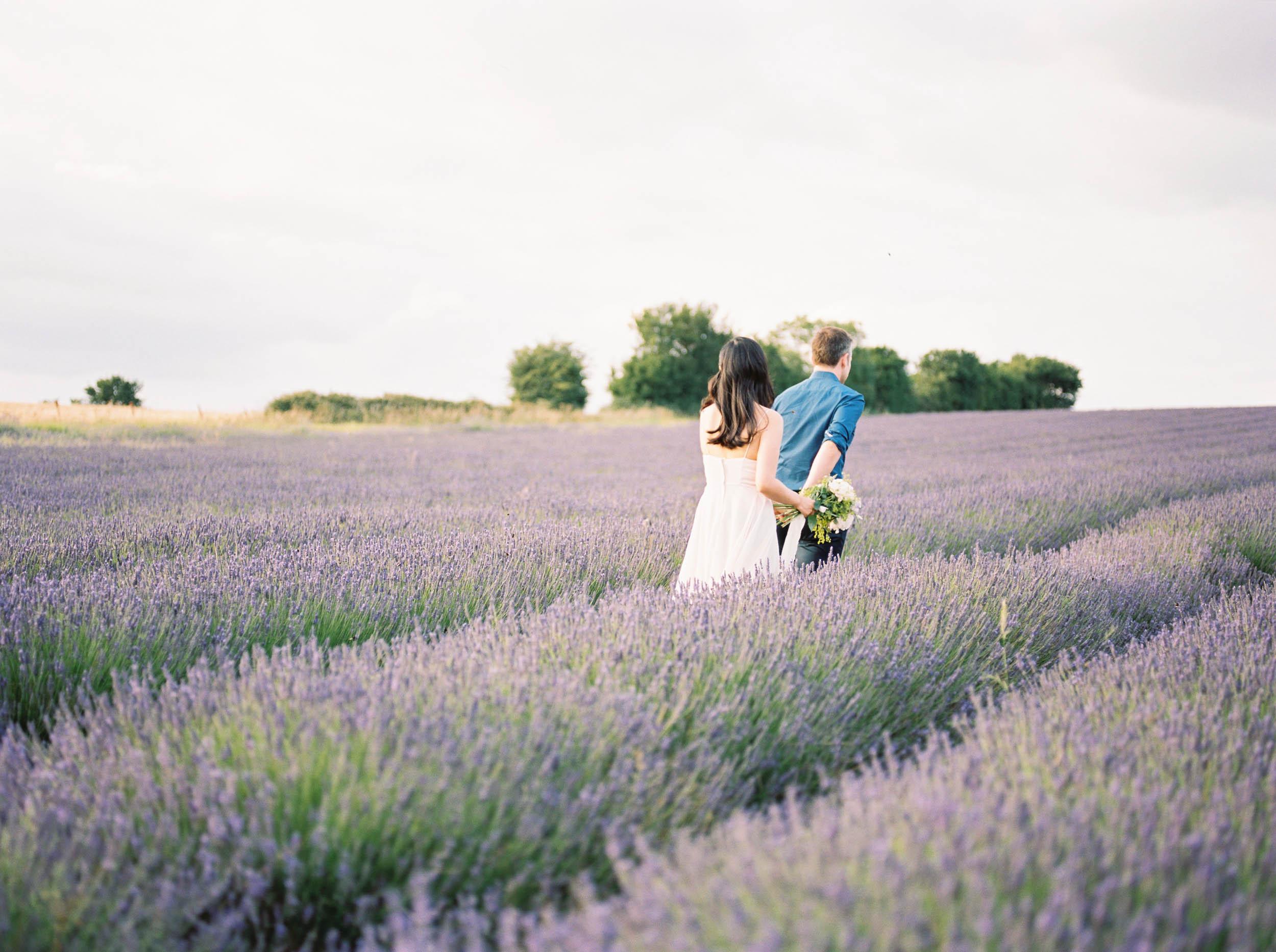 Amy O'Boyle Photography- Destination & UK Fine Art Film Wedding Photographer- Hitchin Lavender Engagement Shoot-12.jpg