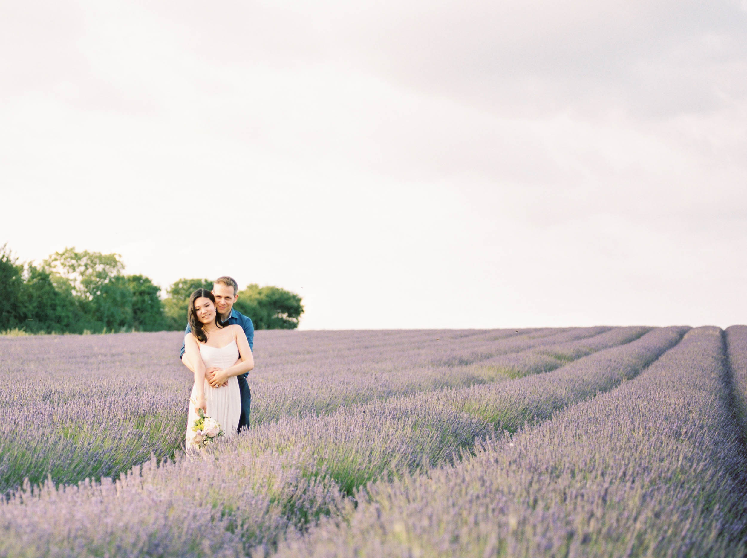Amy O'Boyle Photography- Destination & UK Fine Art Film Wedding Photographer- Hitchin Lavender Engagement Shoot-14.jpg