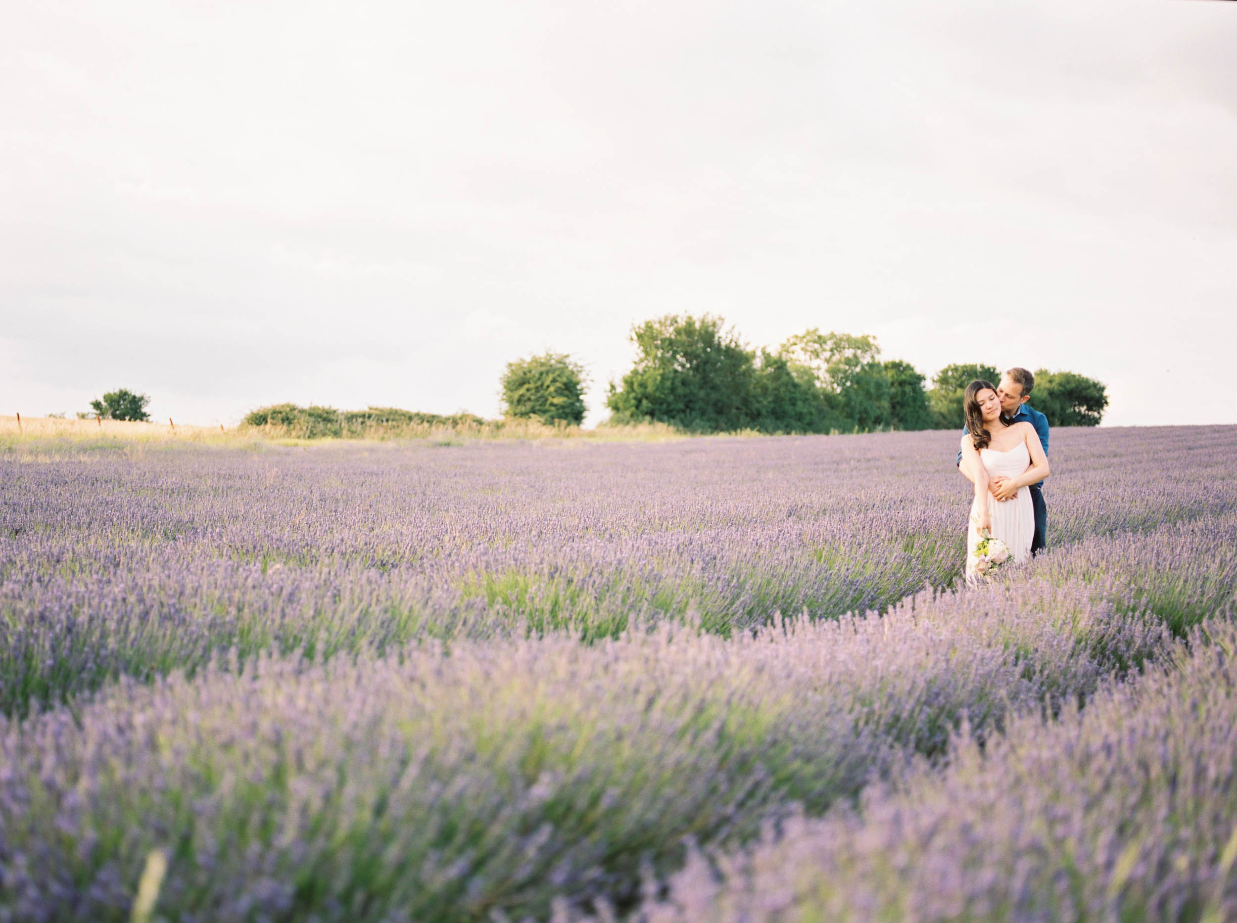Amy O'Boyle Photography- Destination & UK Fine Art Film Wedding Photographer- Hitchin Lavender Engagement Shoot-15.jpg