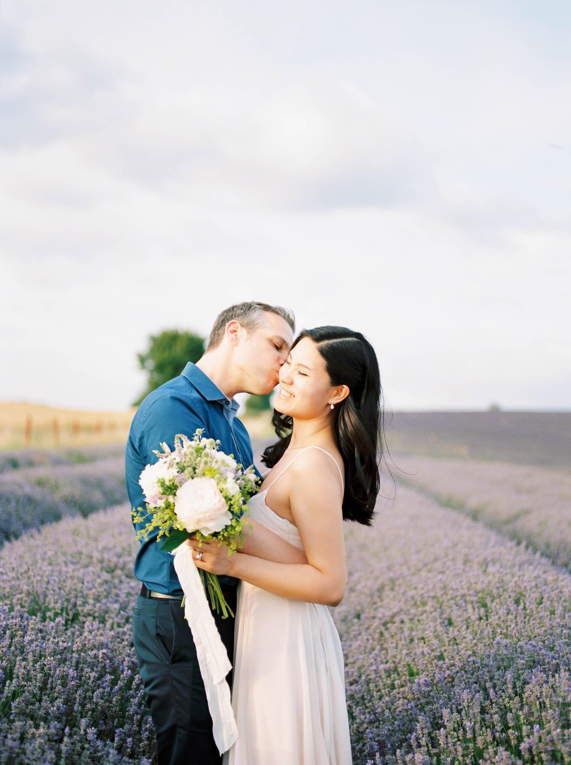 Amy O'Boyle Photography- Destination & UK Fine Art Film Wedding Photographer- Hitchin Lavender Engagement Shoot-19.jpg