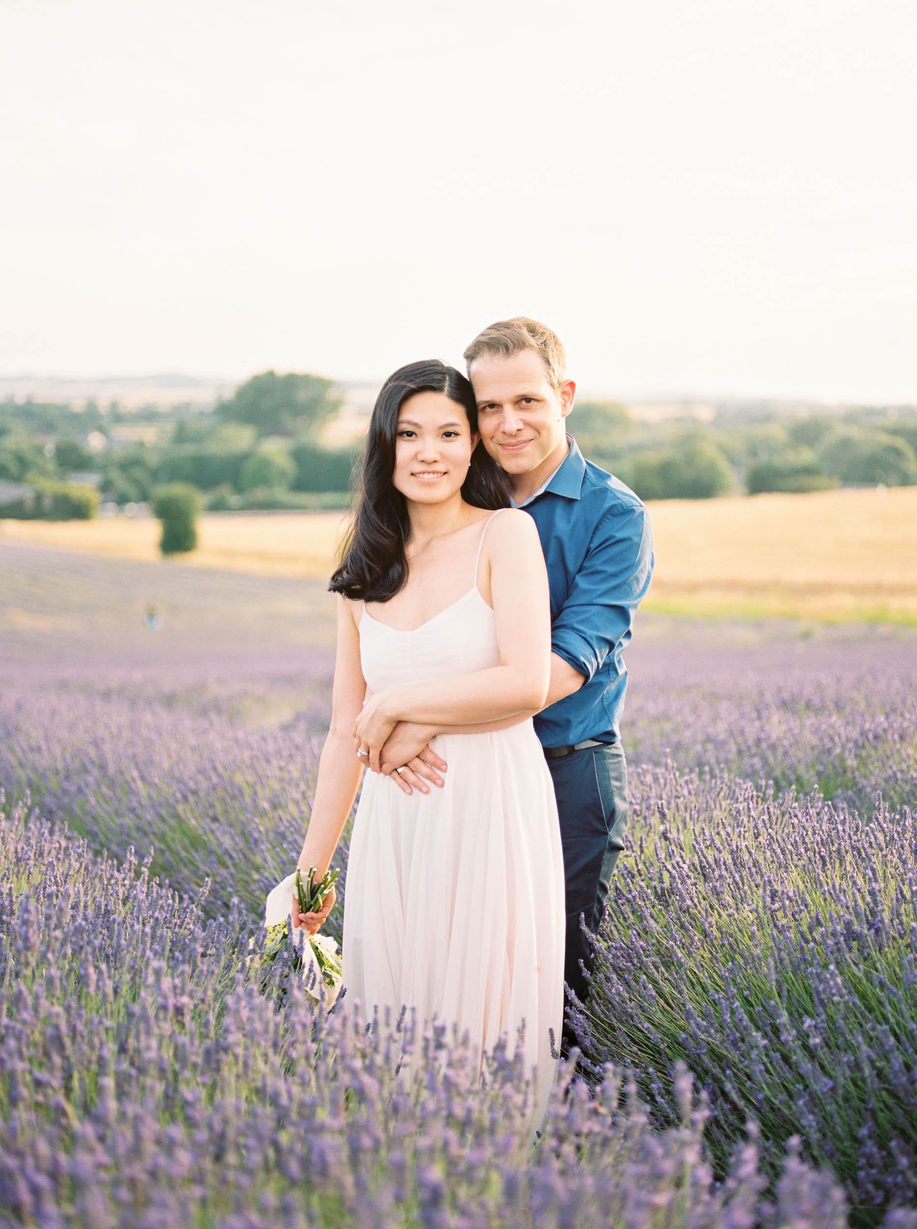 Amy O'Boyle Photography- Destination & UK Fine Art Film Wedding Photographer- Hitchin Lavender Engagement Shoot-22.jpg