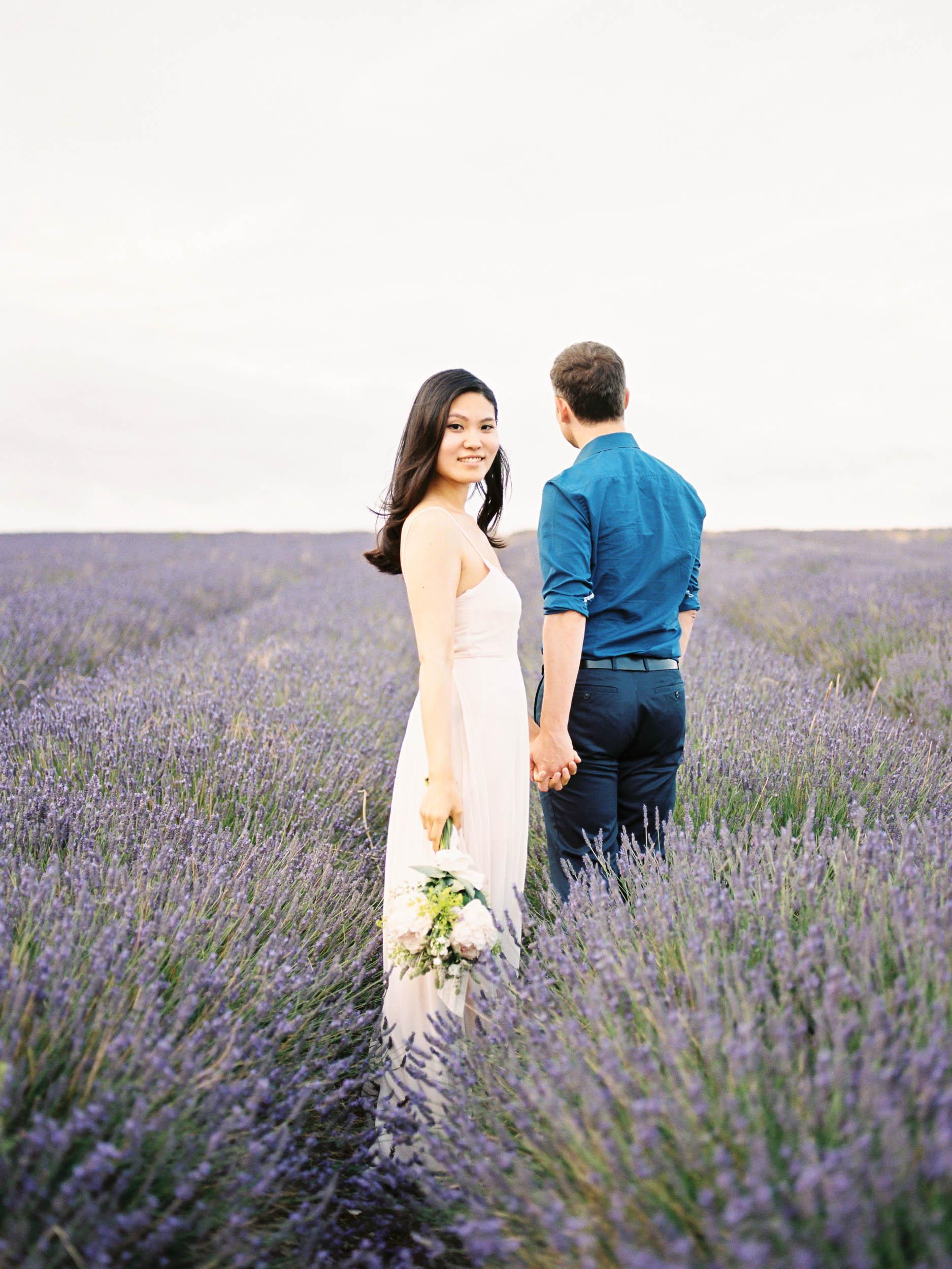 Amy O'Boyle Photography- Destination & UK Fine Art Film Wedding Photographer- Hitchin Lavender Engagement Shoot-26.jpg