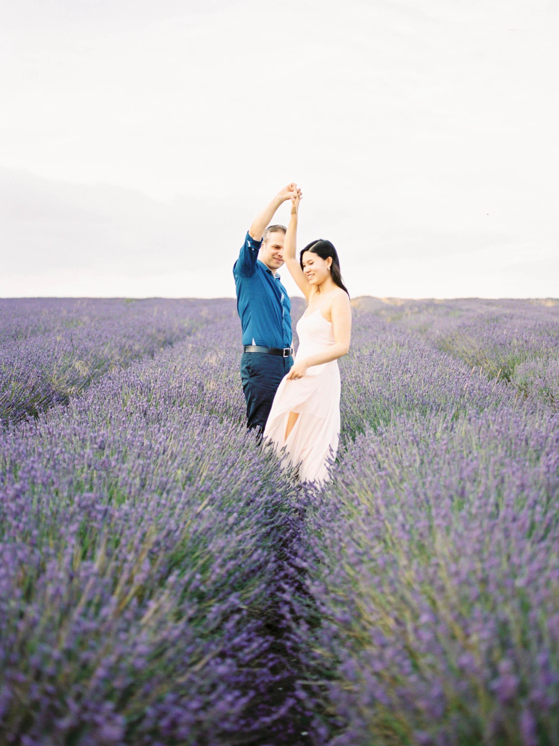 Amy O'Boyle Photography- Destination & UK Fine Art Film Wedding Photographer- Hitchin Lavender Engagement Shoot-31.jpg
