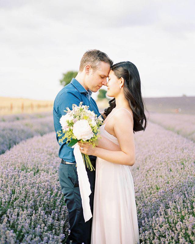 💜 #Engaged #engagementsession #lavender #lavenderfield #lavenderhair #engagementshoot #pentax645n #fuji400h #ishootfujifilm #filmisnotdead #35mm #mediumformat #asos