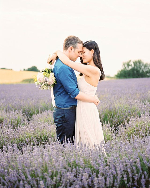 Margaret & Marcos & empty lavender fields 💕  #fuji400h#pentax645n#fujifilm#engagementphotos#love#lavender#lavenderfields#filmphotography#countryside#england