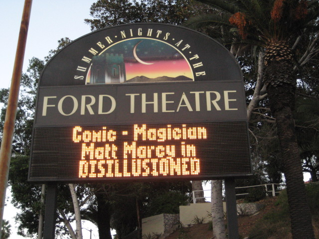 """Marquee for the Sold-Out Run of """"Disillusioned"""""""