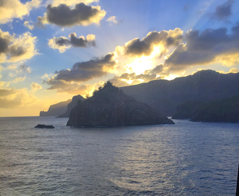 Sailing away from Nuka HIva
