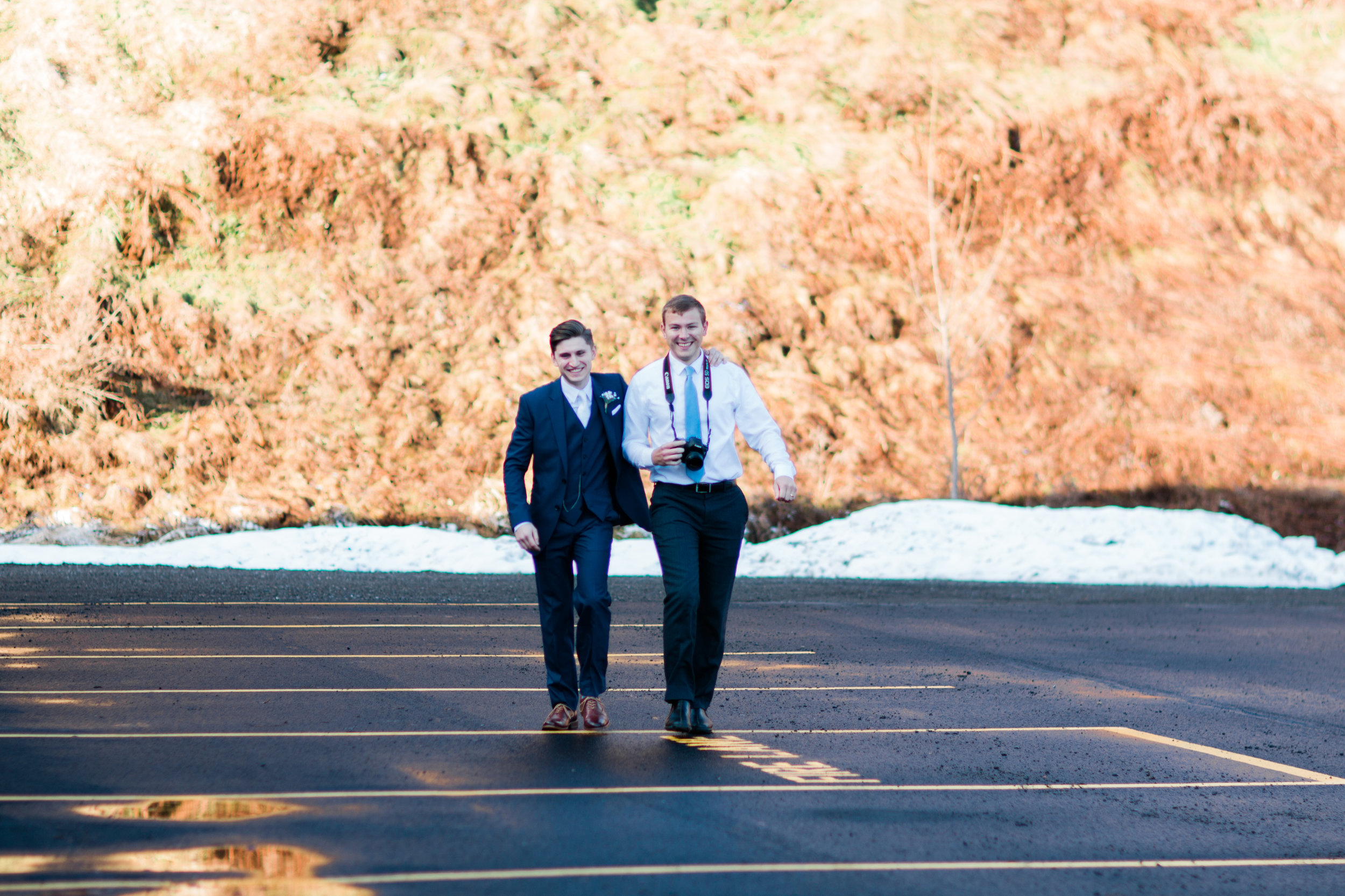 Jackson and Connor! It's so much fun when our bride and groom are friends of ours!