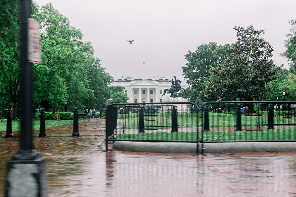 Passing the White House as we headed home.
