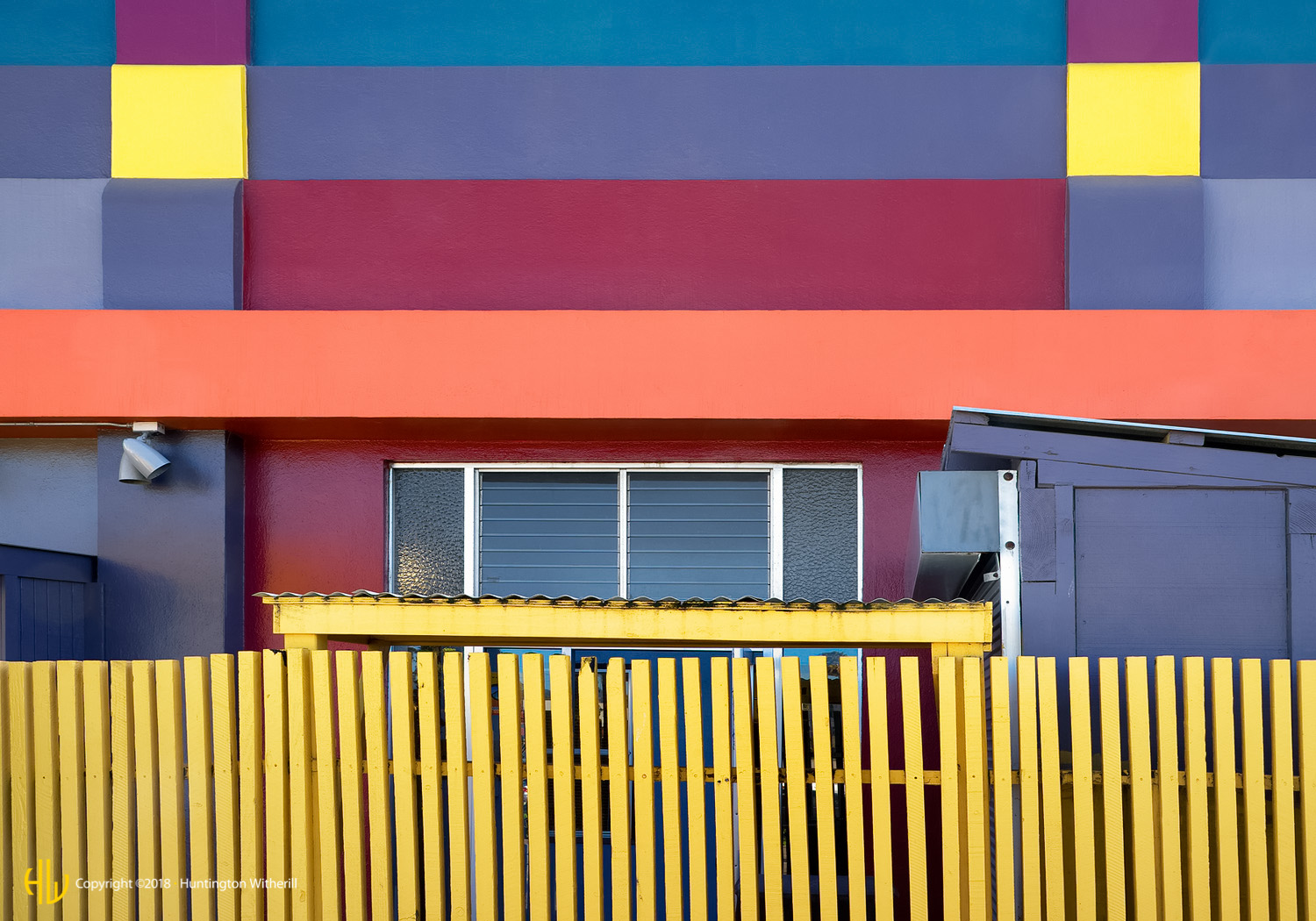 Yellow Fence, Santa Cruz, CA, 2014