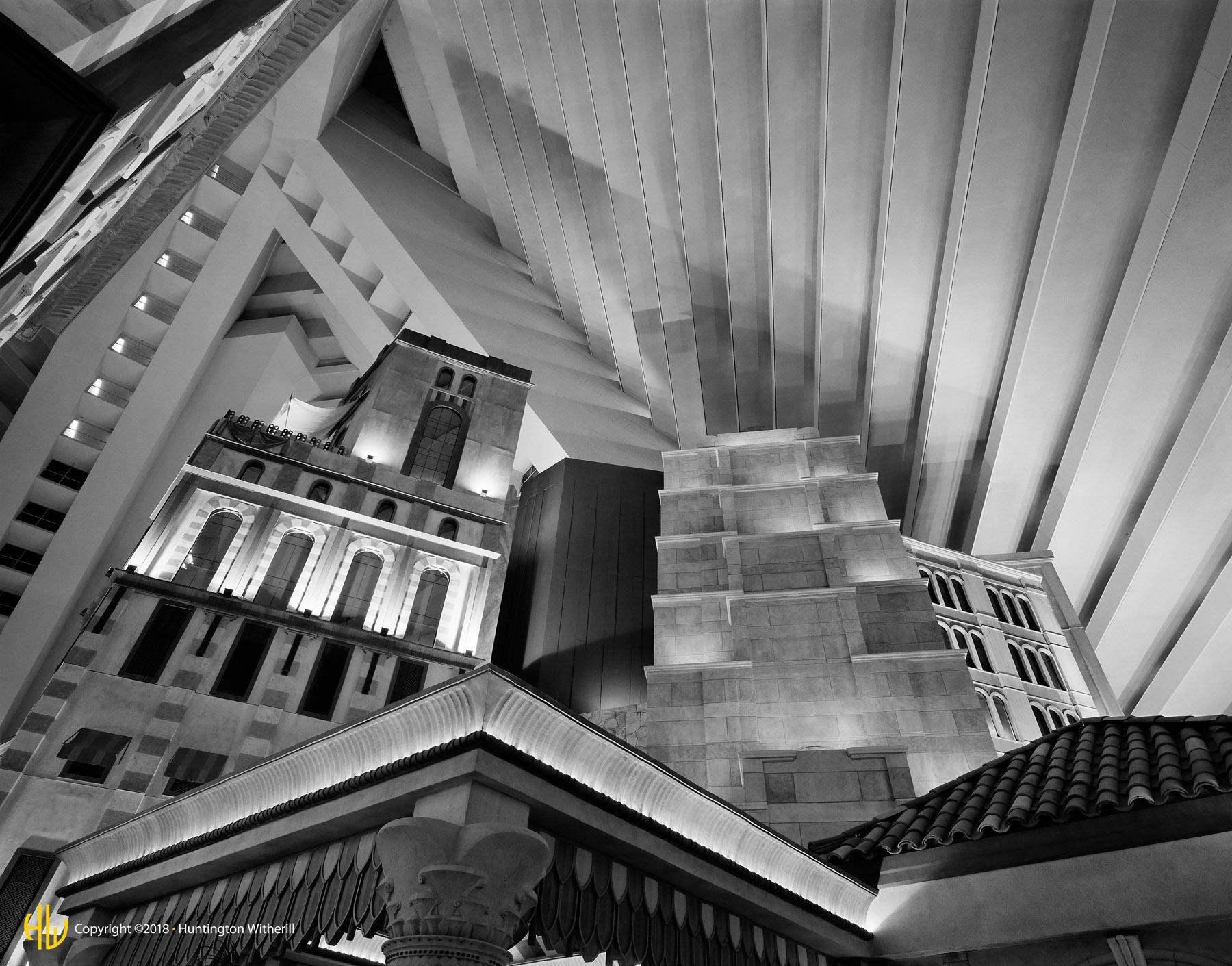 Interior, Luxor Hotel, Las Vegas, NV, 2000