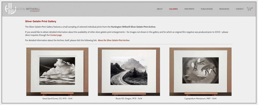 Click the image above to visit the   Silver Gelatin Print Gallery