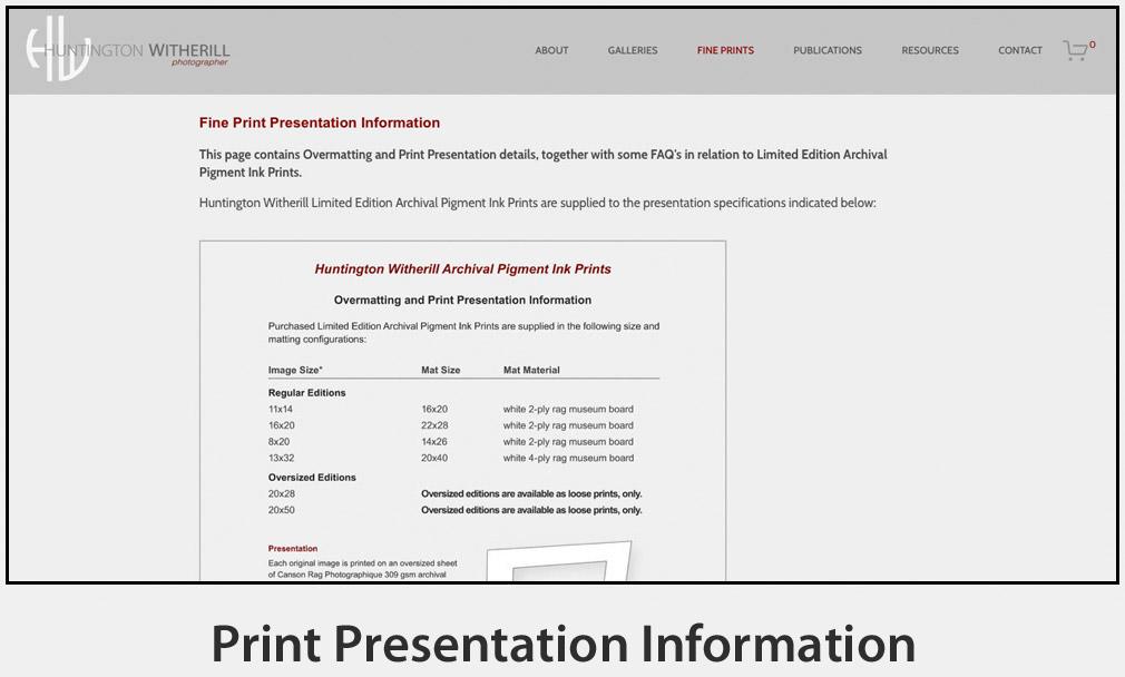 Print Presentation Information