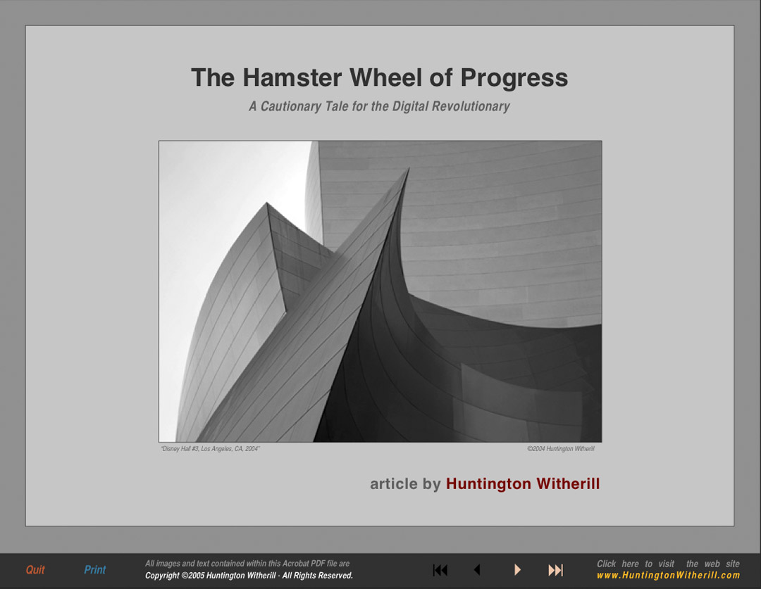 Article- The Hamster Wheel of Progress