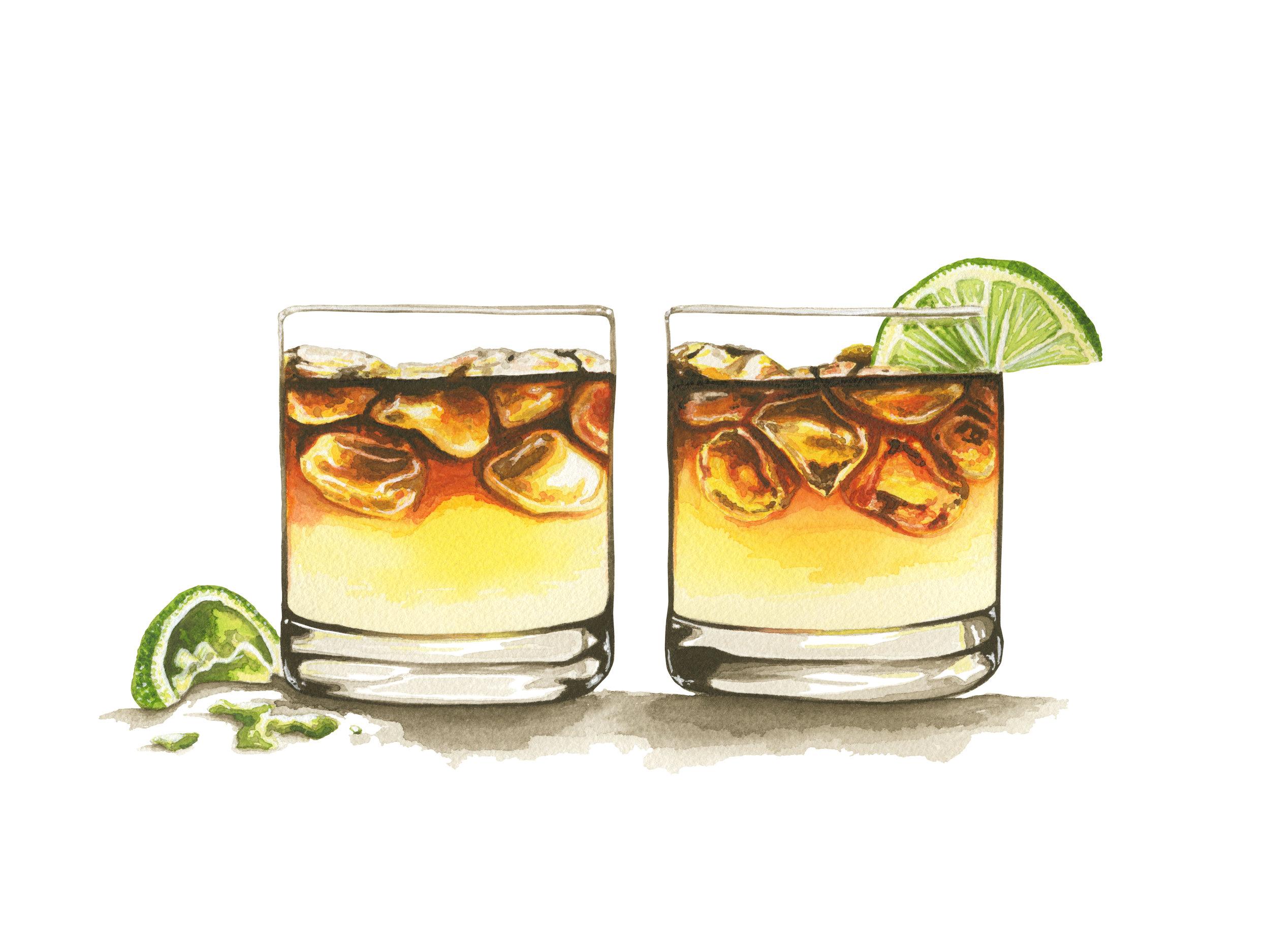 Dark + Stormy Cocktails
