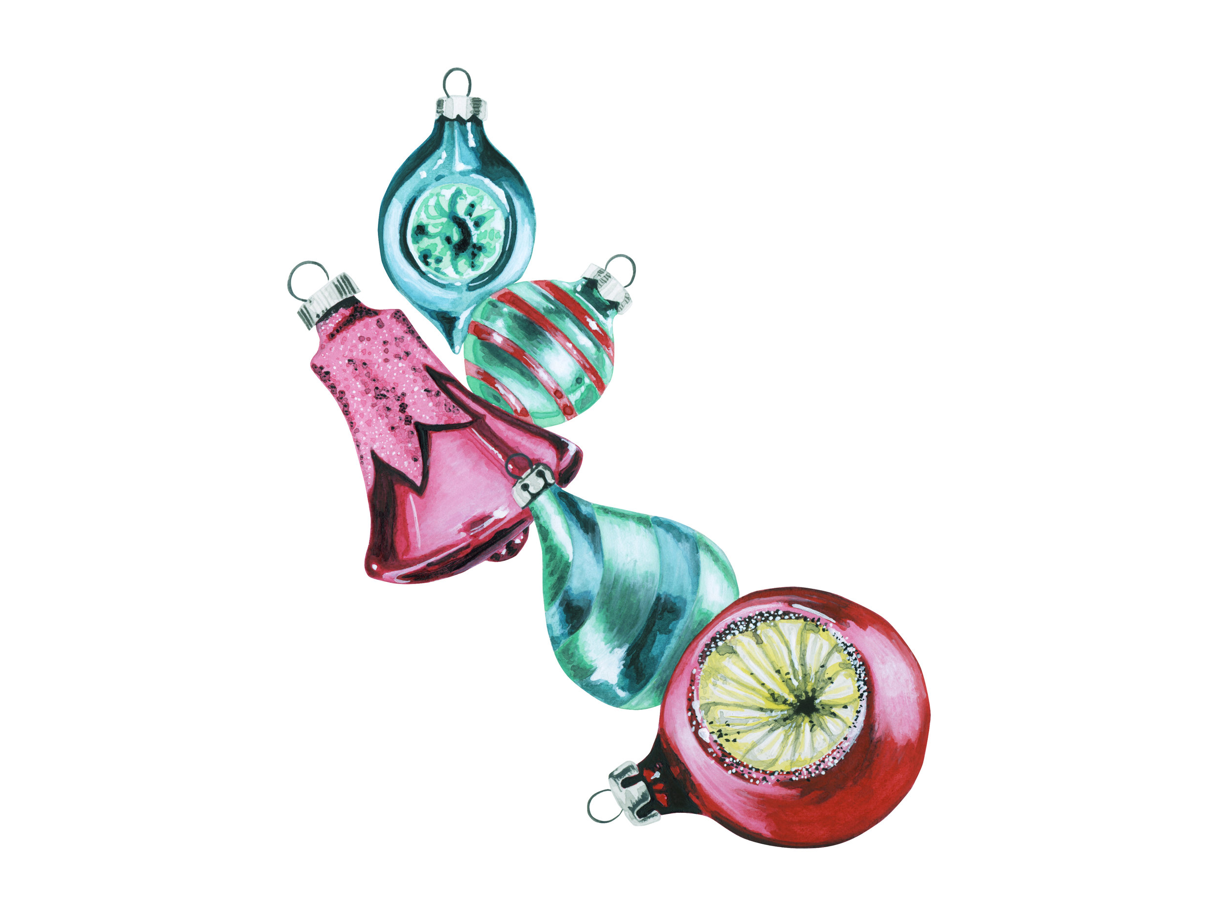 Shiny + Brite Vintage Ornaments