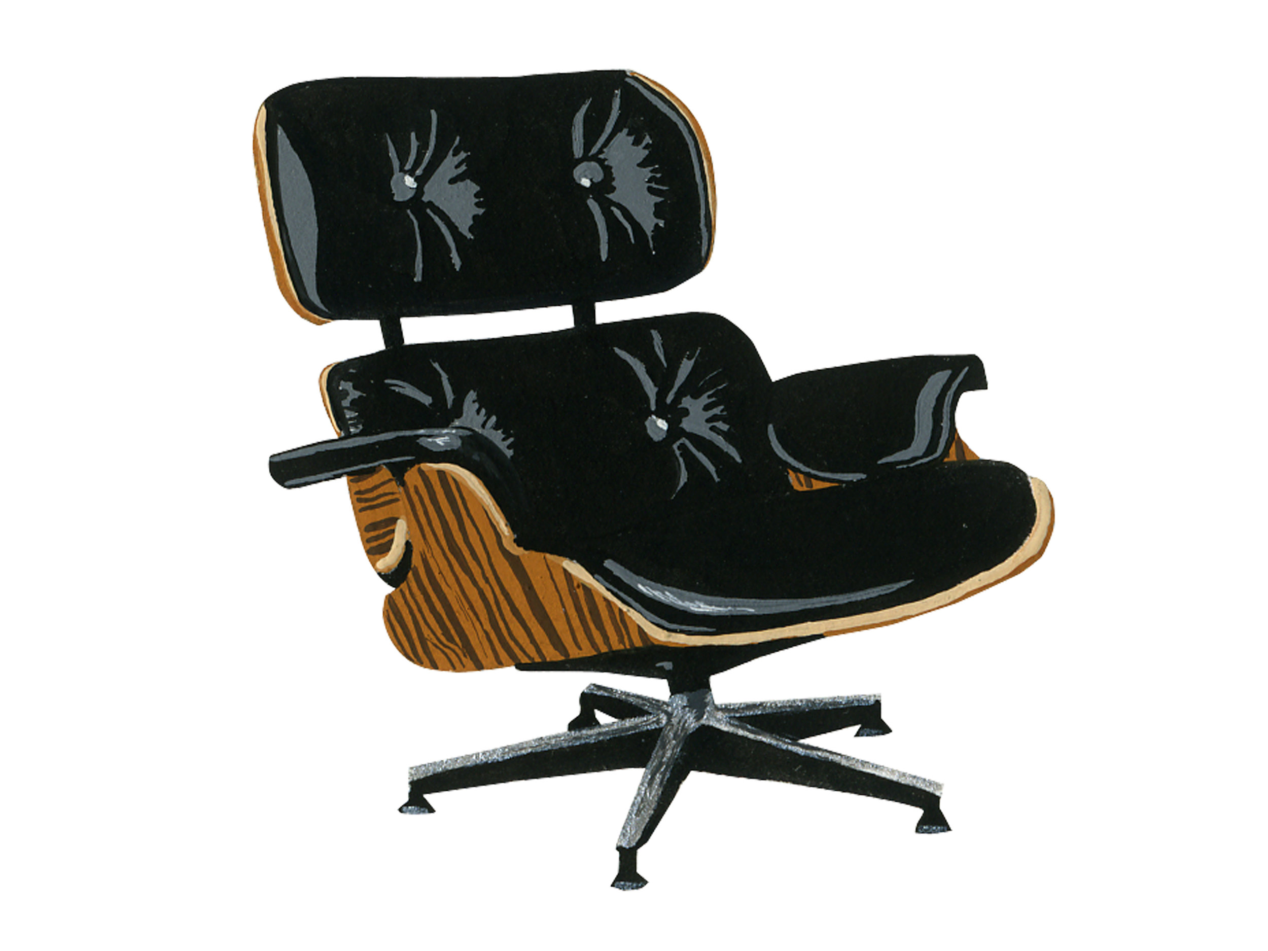 Black Leather Eames | Mid-Century Chair Series