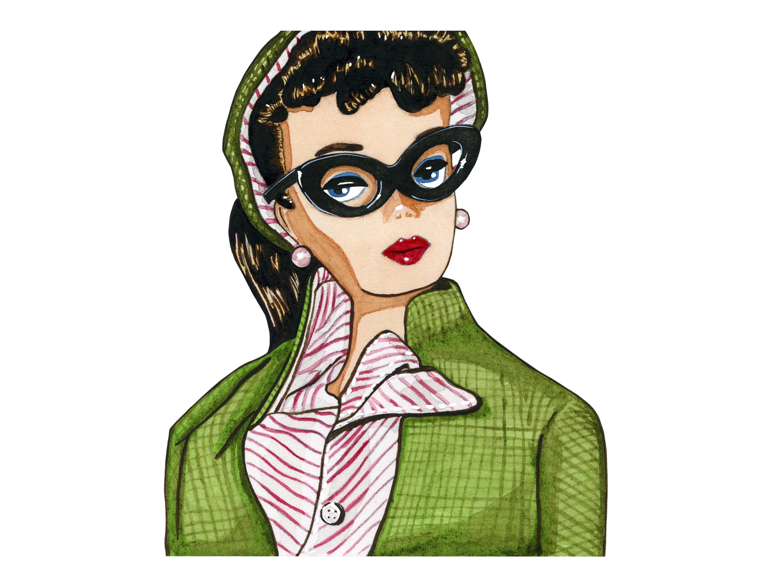 Green Tweed Jacket | Vintage Barbie Collection