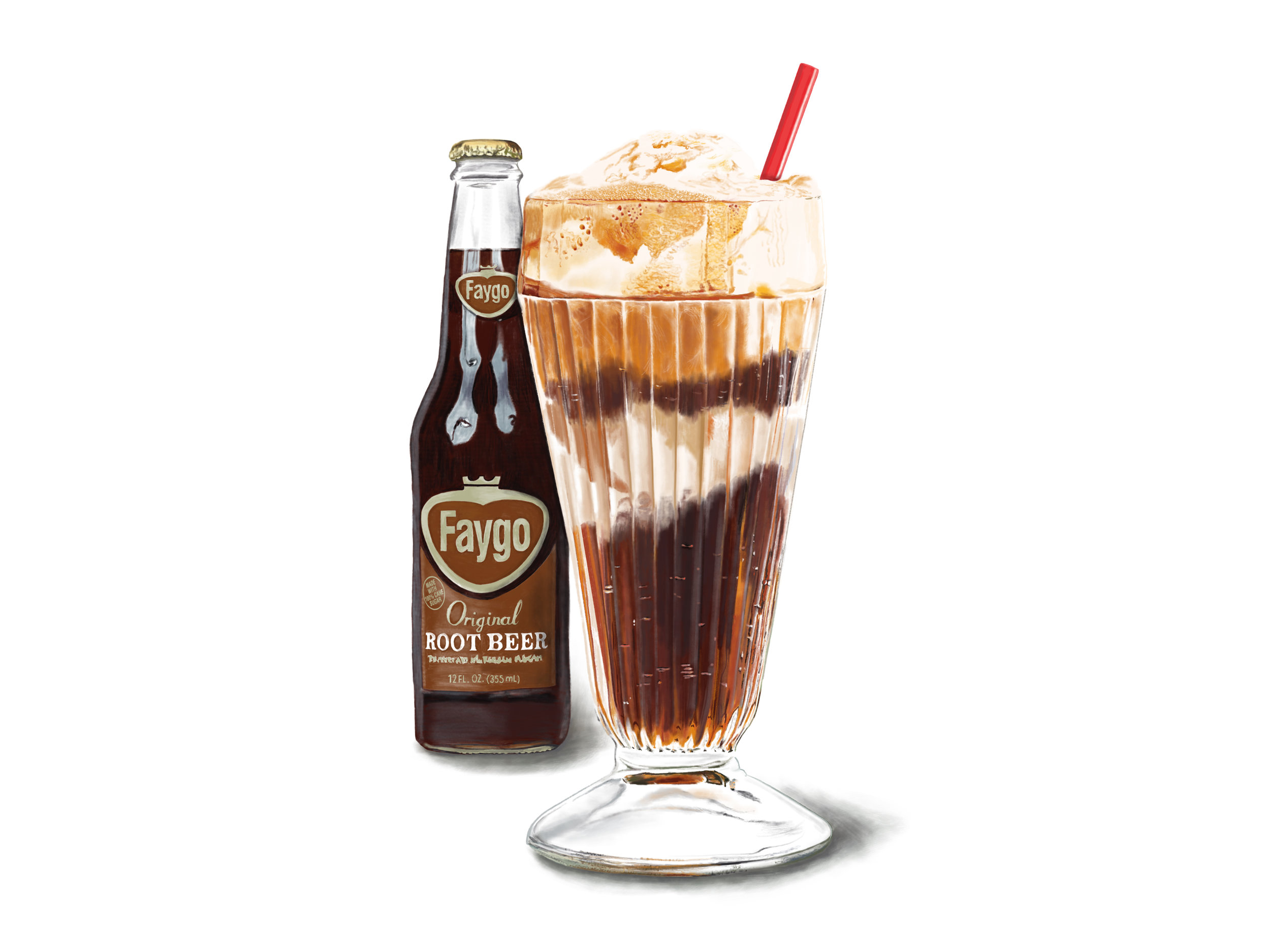 Faygo Rootbeer Float