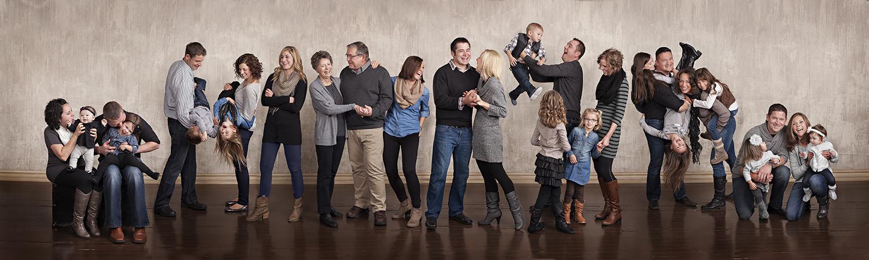 Yorkshire Ohio, studio photography, studio family portrait, extended family portrait, fun family portrait