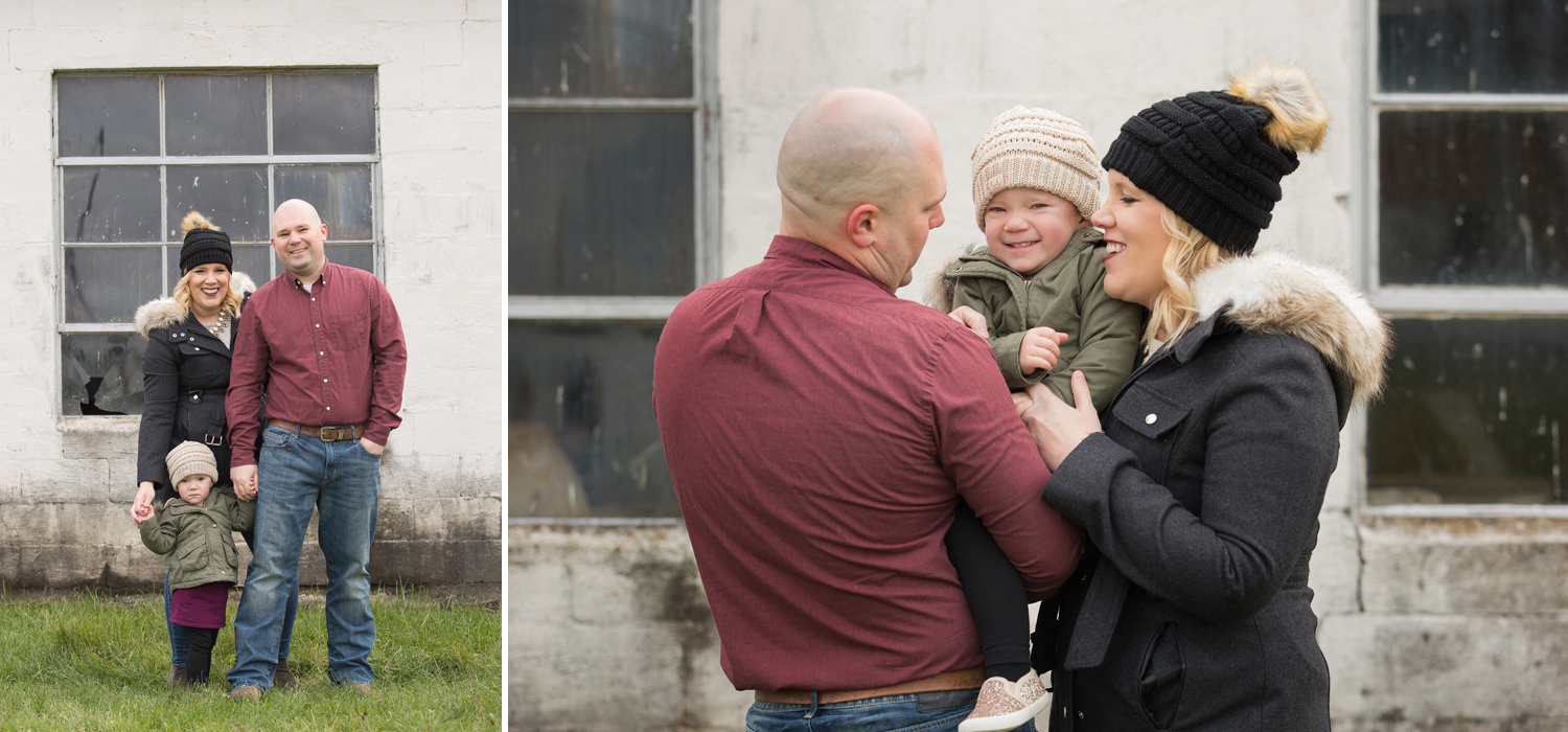 Yorkshire Ohio, outdoor family session, winter family session, modern family photography