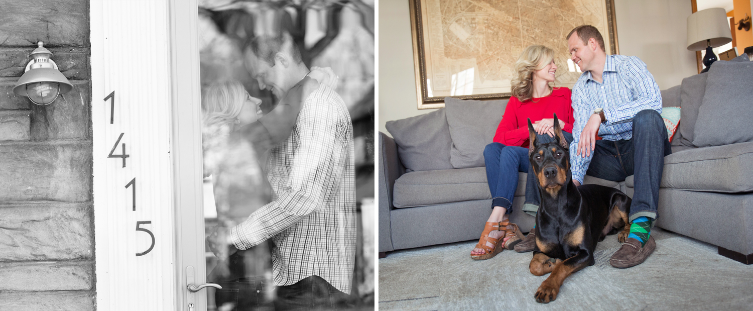 Columbus Ohio, in home photography, modern engagement photography, black and white photography, storytelling photography