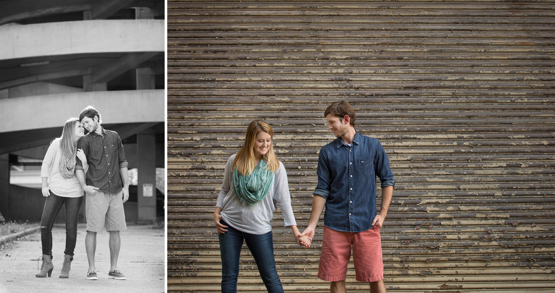 Dayton Ohio, black and white photography, storytelling engagement photography, modern engagement photography, urban location