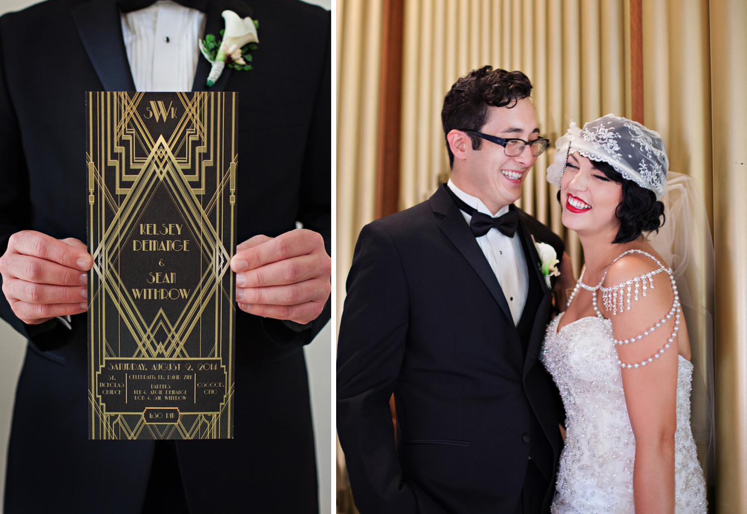 Osgood Ohio, 1920 inspired wedding, Great Gatsby wedding, emotional wedding image, wedding details,