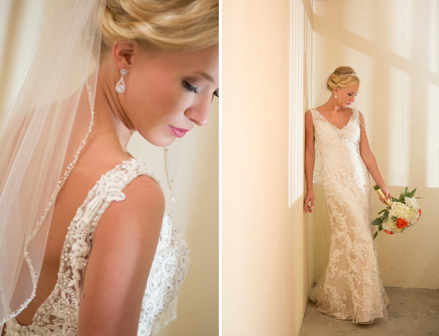 St Henry Ohio, bridal portrait, lace wedding gown, sheath gown, bride details, getting ready