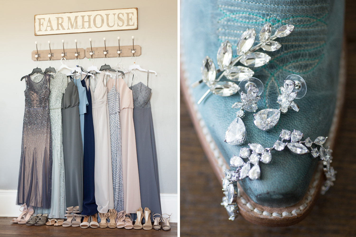 rustic wedding photography, mix and match bridesmaids dresses, sequin dresses, wedding detials, Piqua Ohio, Buckeye Barn
