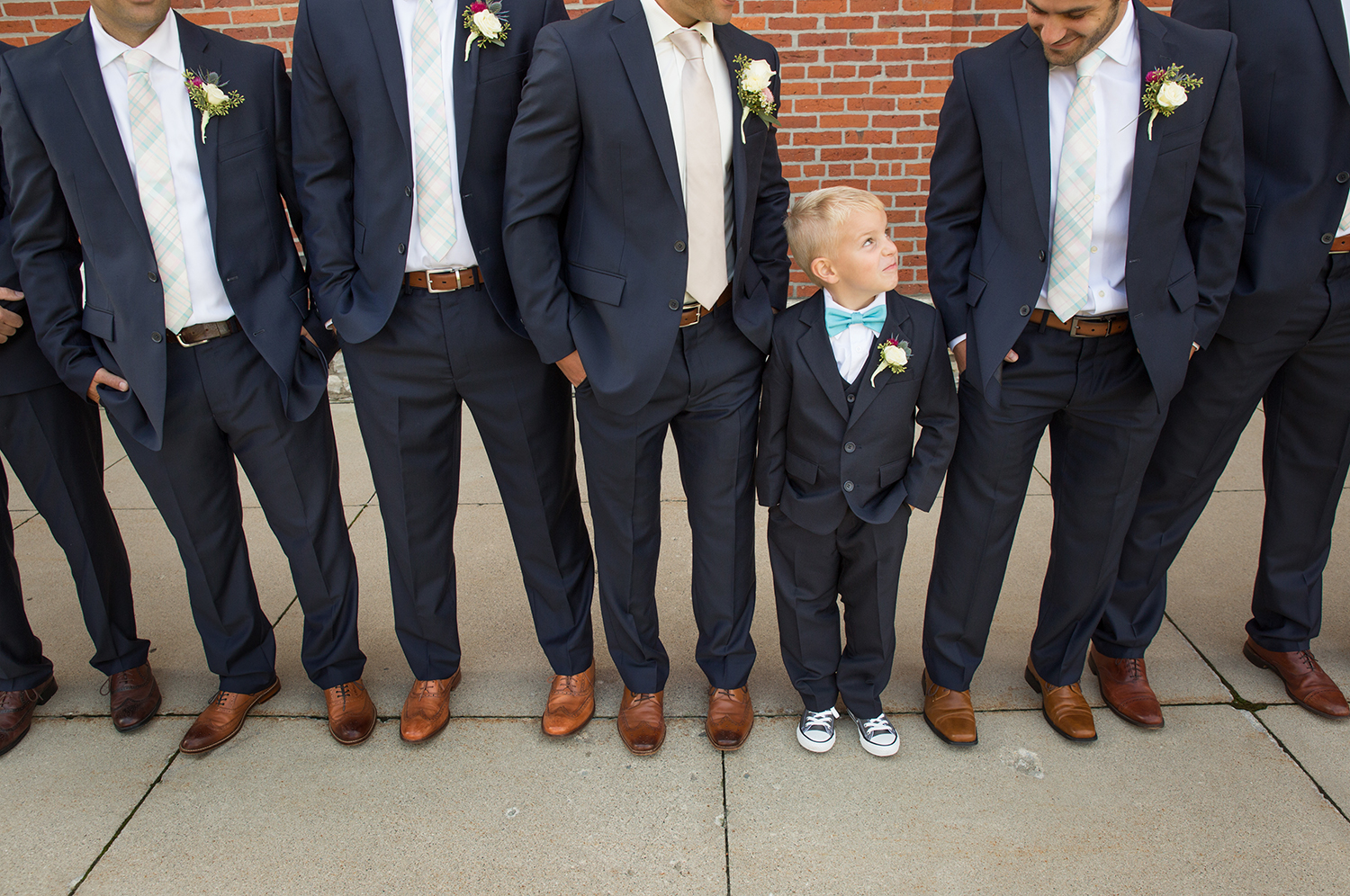 Minster Ohio, St Augustine Catholic church, ring bearer, modern wedding photography, navy suits, groomsmen