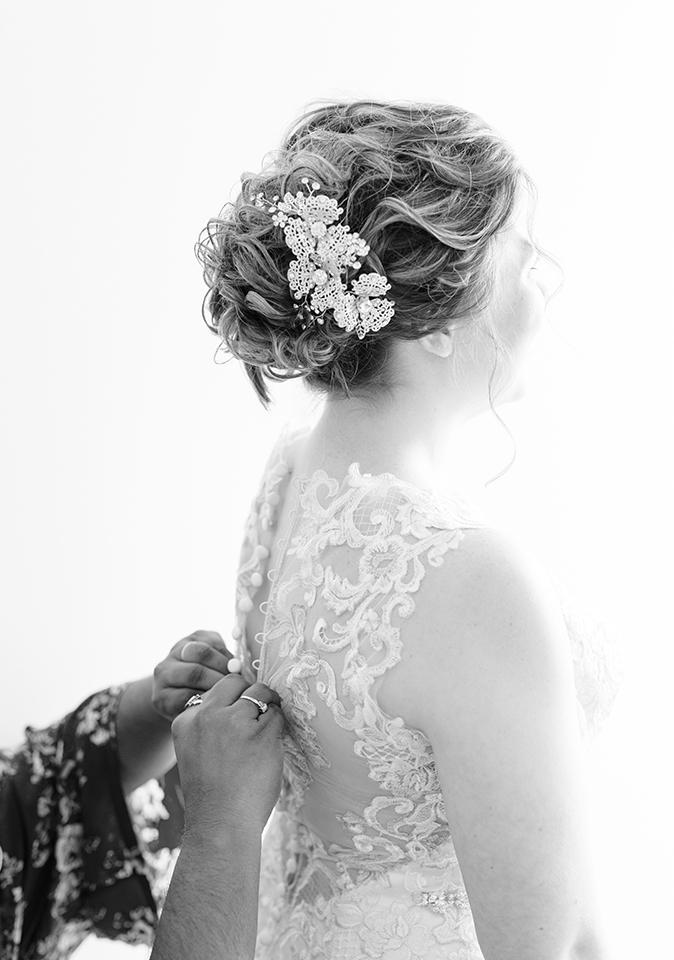 Bridal Dress Shop: Emmy's | Minster, OH Bridal Designer: Allure | lace, illusion dress