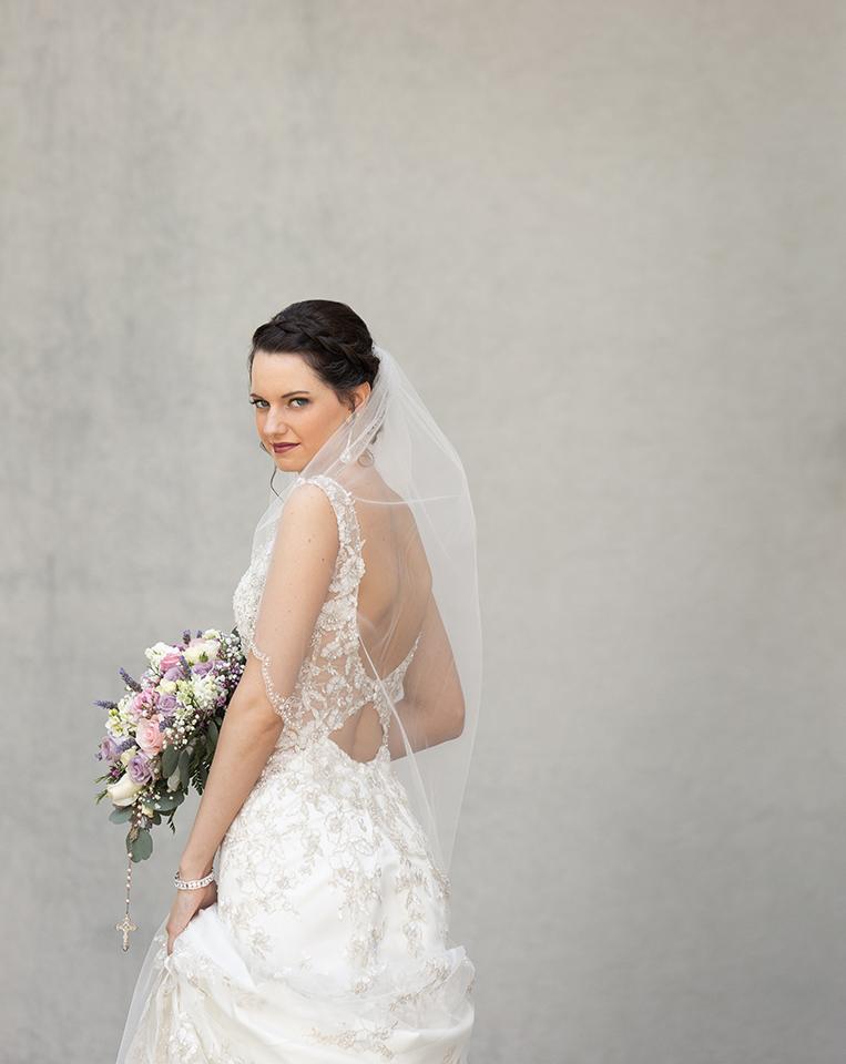Dress Shop: Emmy's Bridal | Minster, OH Florist: Nature's Reflections | Versailles, OH