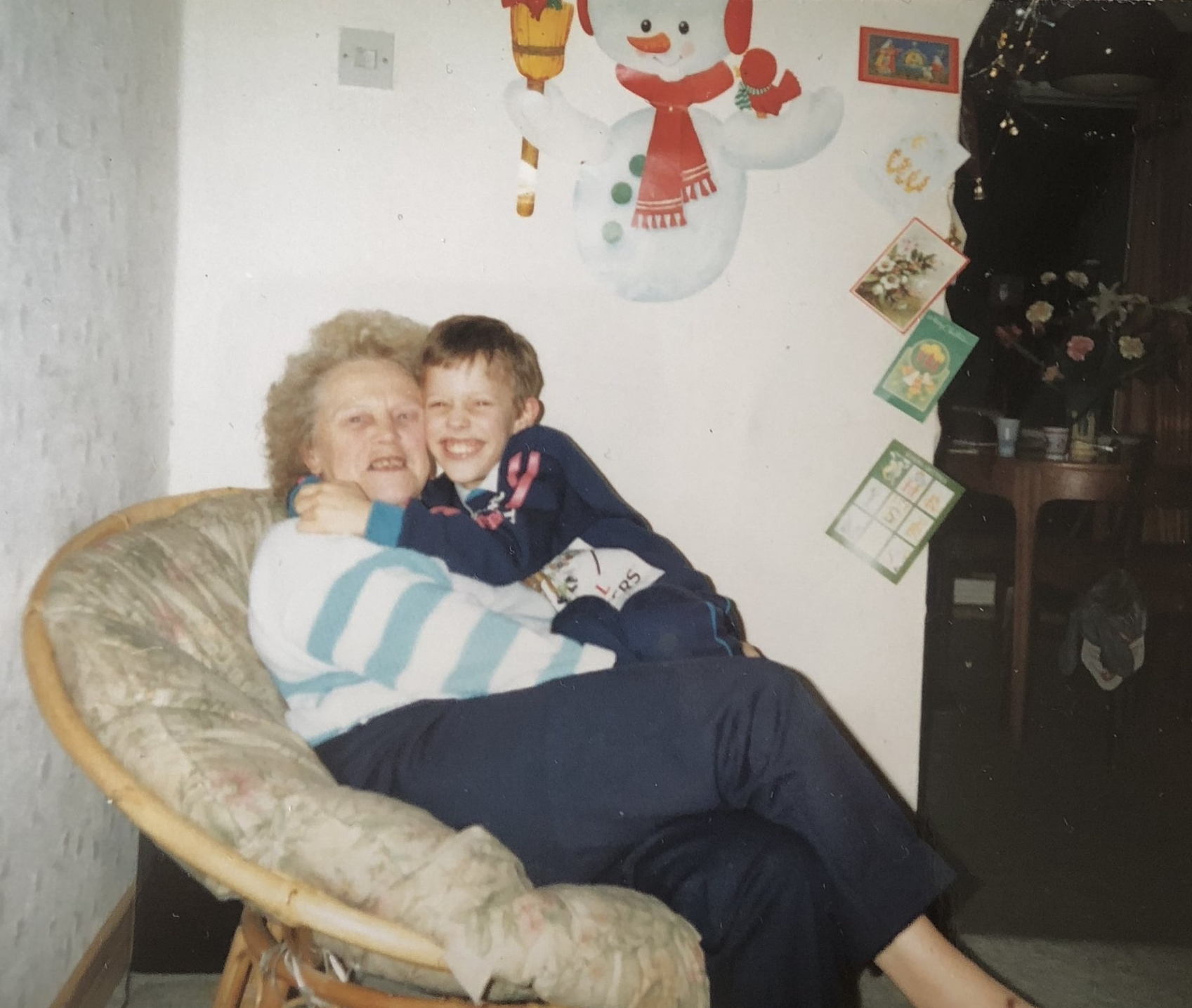 Nanny Beanie and myself in the mid 80's x