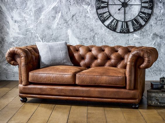 Faux Leather sofa from Living it up