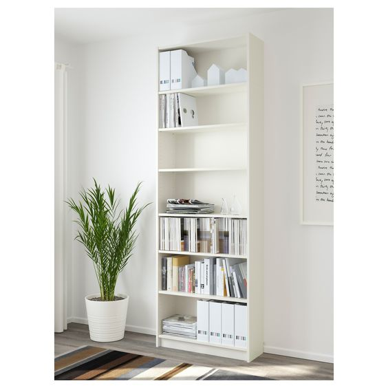 the classic IKEA billy bookcase
